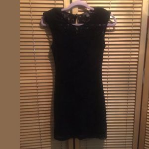 Cute Lace Lined Dress By Forever 21 size small